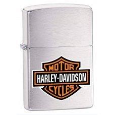 Зажигалка ZIPPO Harley-Davidson®, с покрытием Brushed Chrome, латунь/сталь, серебристая, 36x12x56 мм 200HD.H252