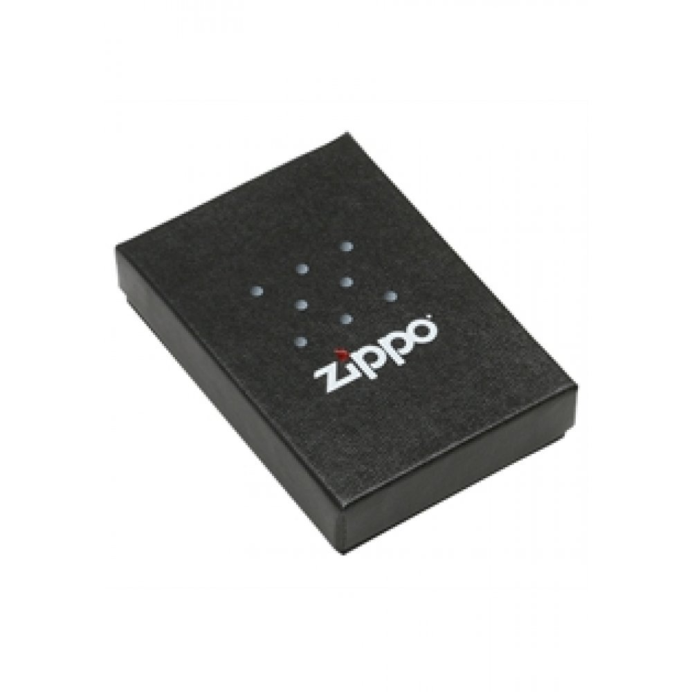 Зажигалка ZIPPO Red Flame, с покрытием Brushed Chrome, латунь/сталь, серебристая, 36x12x56 мм 200 Red Flame