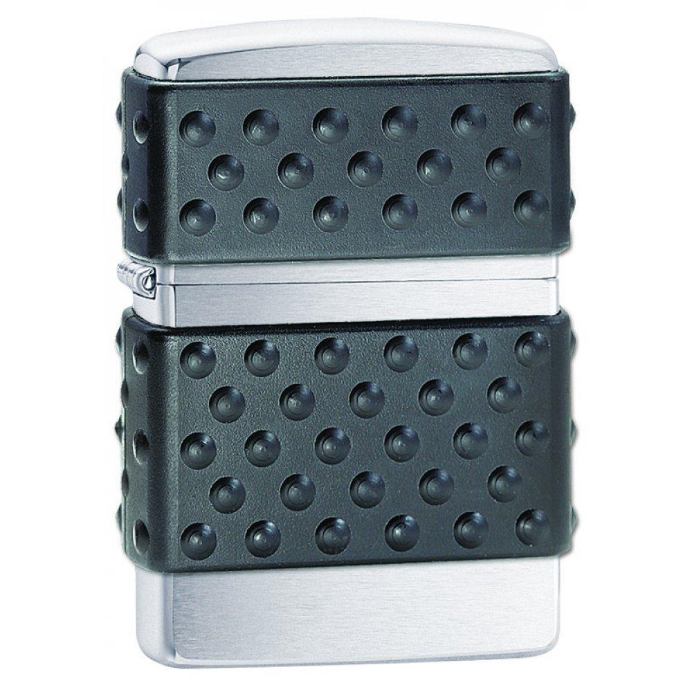 Зажигалка ZIPPO, с покрытием Brushed Chrome, латунь/сталь, серебристая, матовая, 36x12x56 мм 200 ZP