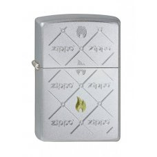 Зажигалка ZIPPO Zippos, с покрытием Satin Chrome™, латунь/сталь, серебристая, матовая, 36x12x56 мм 205 Zippos