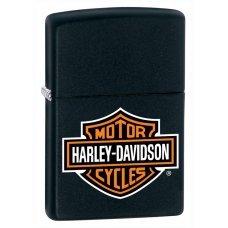 Зажигалка ZIPPO Harley-Davidson®, с покрытием Black Matte, латунь/сталь, чёрная, 36x12x56 мм 218HD.H252