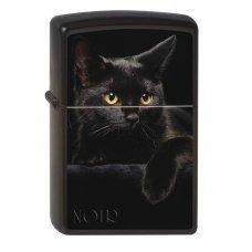 Зажигалка ZIPPO Чёрная кошка, с покрытием Black Matte, латунь/сталь, чёрная, матовая, 36x12x56 мм 218 CAT