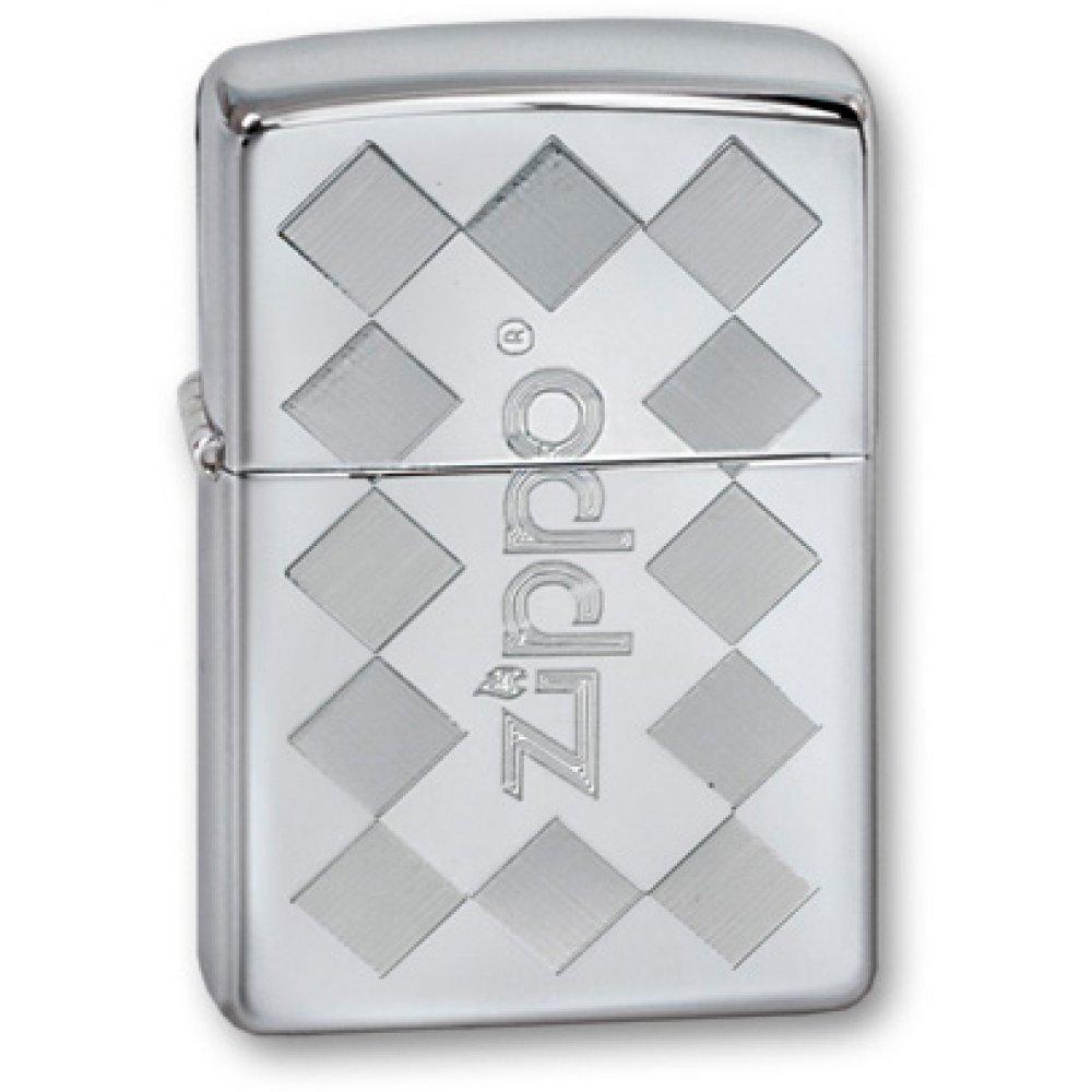 Зажигалка ZIPPO Classic с покрытием High Polish Chrome, латунь/сталь, серебристая, 36x12x56 мм 250 ZFramed