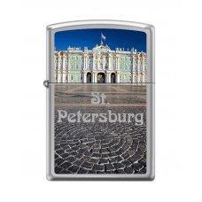 Зажигалка ZIPPO Зимний дворец, с покрытием High Polish Chrome, латунь/сталь, 36x12x56 мм 250 WINTER PALACE