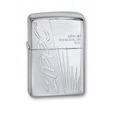 Зажигалка ZIPPO Classic с покрытием High Polish Chrome, латунь/сталь, серебристая, 36x12x56 мм 250 Zippo Made In US