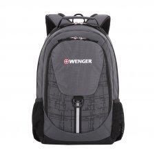 Рюкзак WENGER, серый/чёрный, полиэстер 600D, 32х14х45 см, 20 л 31264415-2