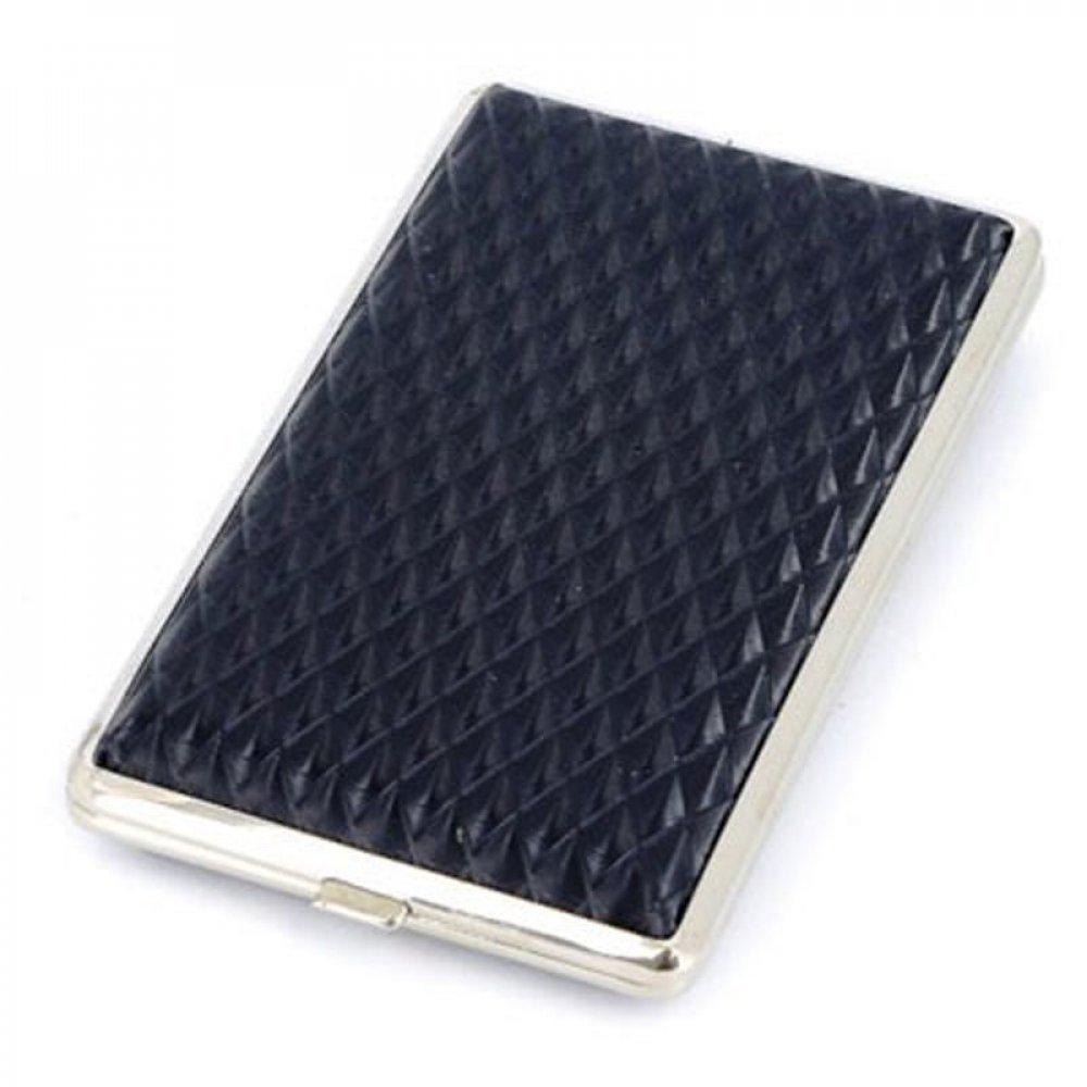 Портсигар S.Quire, сталь+искусственная кожа, черный цвет с рисунком, 120*75*20 мм 340023-82