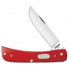 Нож ZIPPO Red Synthetic Smooth Sodbuster Jr, 92 мм, красный + ЗАЖИГАЛКА ZIPPO 207 50517_207