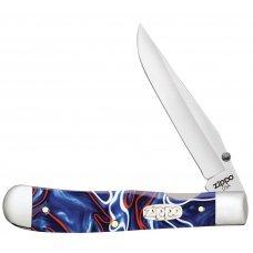 Нож ZIPPO Patriotic Kirinite Smooth Trapperlock, 105 мм, синий + ЗАЖИГАЛКА ZIPPO 207 50593_207