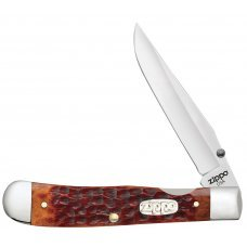 Нож ZIPPO Chestnut Bone Standard Jigged Trapperlock, 105 мм, коричневый + ЗАЖИГАЛКА 207 50599_207