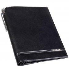 Кошелёк с отделением для паспорта+ручка Classic Century, кожа наппа, гладкая, чёрный,14 х 11 х 1см AC018173-1