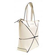 Сумка наплечная женская, Cross Origami, кожа наппа гладкая+ткань, цвет бежевый, 38 х 32 х 13 см AC751302-7