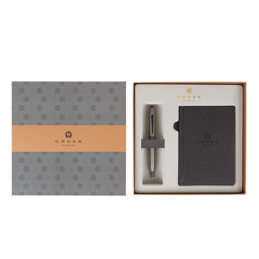 Подарочный набор Cross: шариковая ручка Cross Century II Gunmetal Gray с блокнотом AT0082WG-115/288
