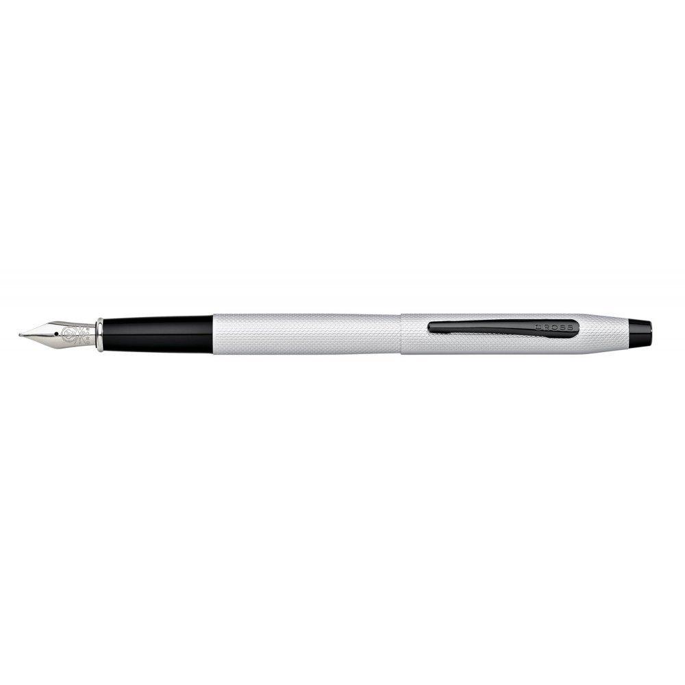 Перьевая ручка Cross Classic Century Brushed Chrome AT0086-124FS