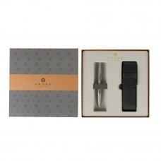 Подарочный набор Cross: шариковая ручка Cross Calais Chrome с чехлом на две ручки AT0112-1/287