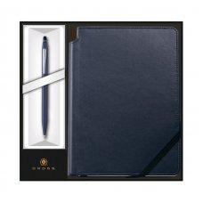 Набор: Шариковая ручка Cross Click Midnight Blue и Записная книжка Cross Journal Midnight Blue, A5 AT0622-121/2M