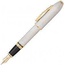 Перьевая ручка Cross Peerless 125. Цвет - платиновый/позолота, перо - золото 18К/родий AT0706-2FD