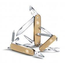 Нож VICTORINOX Cadet Alox, 84 мм, 9 функций, алюминиевая рукоять, золотистый 0.2601.L19