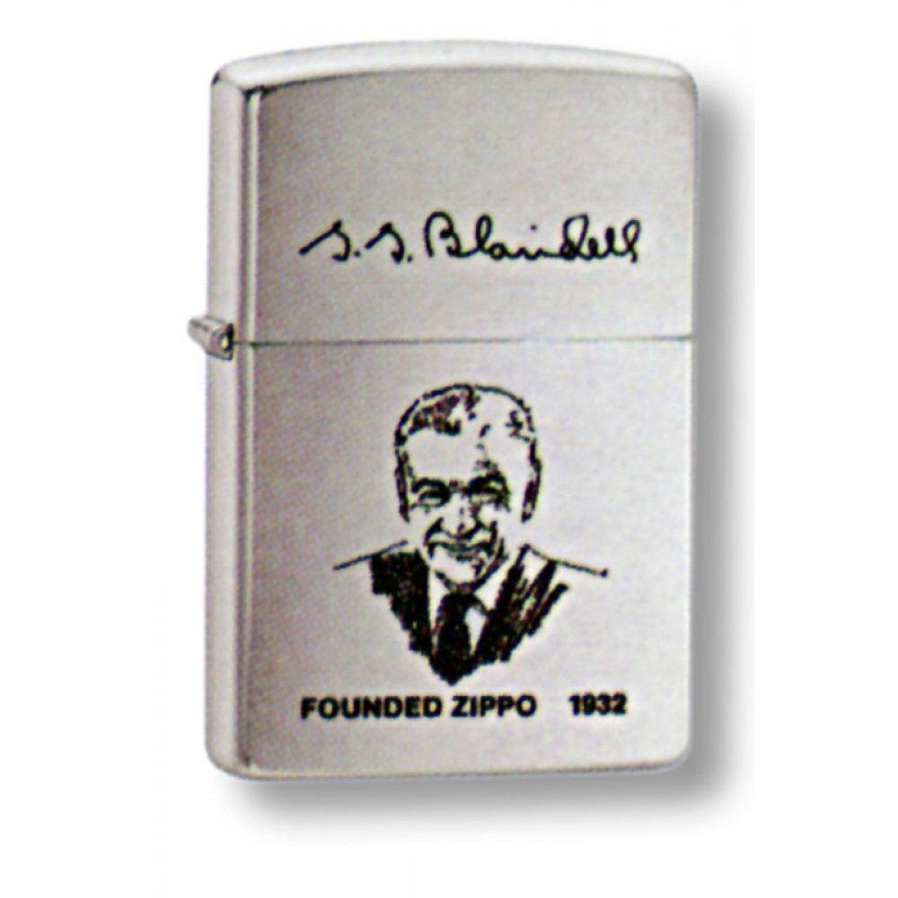 Зажигалка ZIPPO G. Blaisdell, с покрытием Brushed Chrome, латунь/сталь, серебристая, 36x12x56 мм 200FL