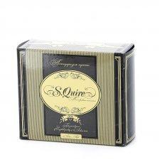 Бритвенный набор S.Quire: станок, помазок, чаша подставка; цвет иммитация под рог 6516