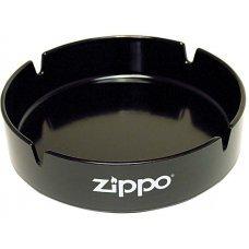 Пепельница ZIPPO, долговечный пластик, чёрная с фирменным логотипом, диаметр 13 см ZAT