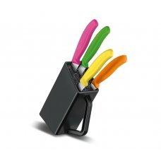 Набор из 4 предметов Victorinox Swiss Classic Steak and Pizza Knife Block 6.7126.4 с подставкой 6.7126.4