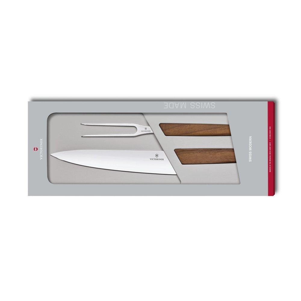 Набор из 2 предметов Victorinox Swiss Modern Carving Set 6.9091.2 в подарочной упаковке 6.9091.2