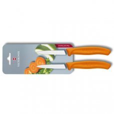 Кухонный нож Victorinox 6.7606.L119B, 8 см., 2 шт. в блистере, оранжеые 6.7606.L119B