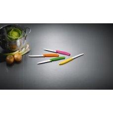 Кухонный нож Victorinox 6.7836.L119B, 11 см., серрейтор, 2 шт. в блистере, оранжевые 6.7836.L119B