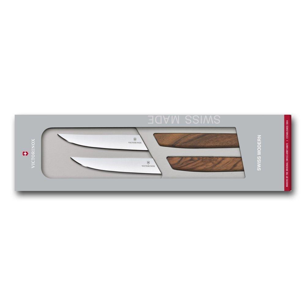 Набор из 2 ножей Victorinox Swiss Modern Steak Knife Set 6.9000.12G в подарочной упаковке 6.9000.12G