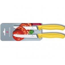 Кухонный нож Victorinox 6.7836.L118B, 11 см., серрейтор, 2 шт. в блистере, желтые 6.7836.L118B