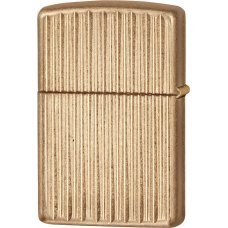Зажигалка ZIPPO Armor™с покрытием Tumbled Brass, латунь/сталь, золотистая, матовая, 37х13x58 мм