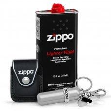 Комплект Zippo Travel Kit с чехлом SET13