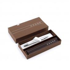 Шариковая ручка Cross Nile. Цвет - серебристый. AT0382G-9