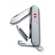 Нож VICTORINOX Cadet Alox, 84 мм, 9 функций, алюминиевая рукоять, серебристый