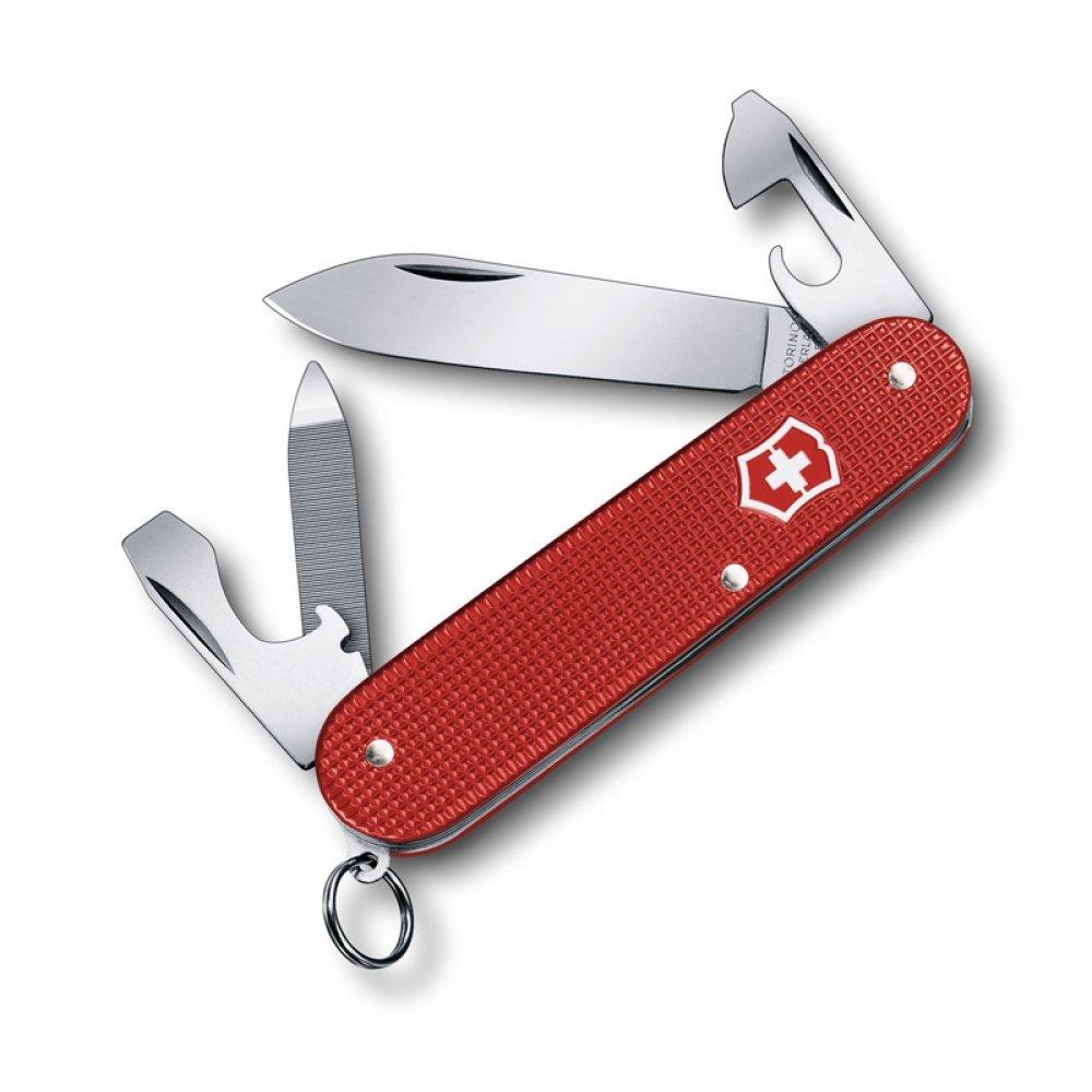 Нож VICTORINOX Cadet Alox, 84 мм, 9 функций, алюминиевая рукоять, красный 0.2601.L18