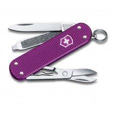Нож-брелок VICTORINOX Classic Alox, 58 мм, 5 функций, алюминиевая рукоять, фиолетовый 0.6221.L16