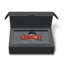 Нож-брелок VICTORINOX Classic Alox, 58 мм, 5 функций, алюминиевая рукоять, красный 0.6221.L18