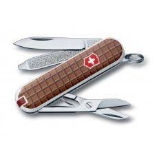 Нож-брелок VICTORINOX Classic, 58 мм, 7 функций, рукоять с дизайном Шоколад 0.6223.842