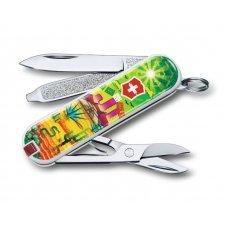 Нож-брелок VICTORINOX Classic Mexican Sunset, 58 мм, 7 функций 0.6223.L1807
