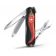 Нож-брелок VICTORINOX Classic Chili Peppers, 58 мм, 7 функций 0.6223.L1904