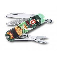 Нож-брелок VICTORINOX Classic Swiss Mountain Dinner, 58 мм, 7 функций 0.6223.L1907