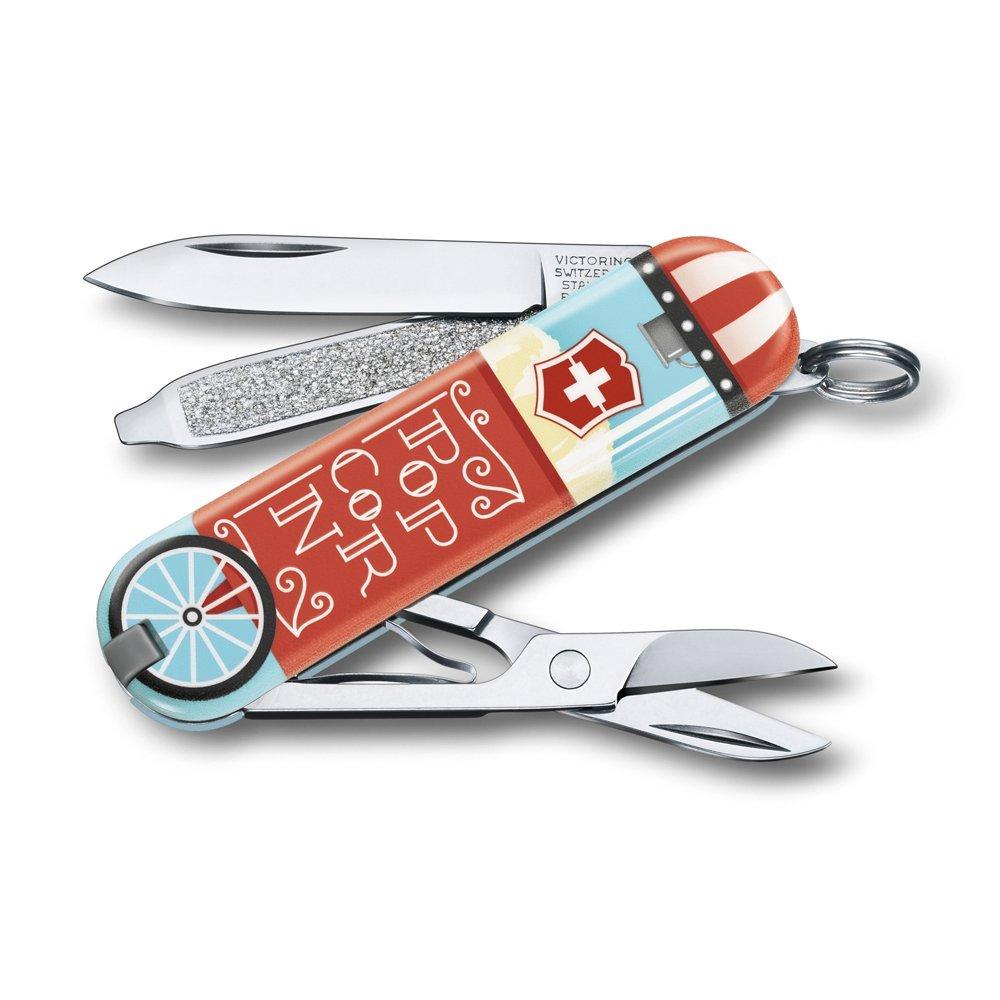Нож-брелок VICTORINOX Classic Let It Pop!, 58 мм, 7 функций 0.6223.L1910