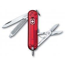 Нож-брелок VICTORINOX Signature, 58 мм, 7 функций, полупрозрачный красный 0.6225.T