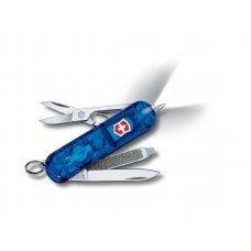 Нож-брелок VICTORINOX Signature Lite, 58 мм, 7 функций, полупрозрачный синий 0.6226.T2