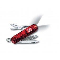 Нож-брелок VICTORINOX Swiss Lite, 58 мм, 7 функций, полупрозрачный красный 0.6228.T