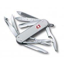 Нож-брелок VICTORINOX Mini Champ Alox, 58 мм, 15 функций, алюминиевая рукоять, серебристый 0.6381.26