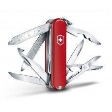 Нож-брелок VICTORINOX Mini Champ, 58 мм, 17 функций, красный 0.6385