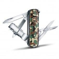 Нож-брелок VICTORINOX NailClip 580, 65 мм, 8 функций, зелёный камуфляж 0.6463.94