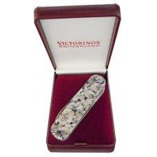Нож-брелок VICTORINOX Rosa Betha, коллекционный, 74 мм, 4 функции, рукоять из натурального камня 0.6500.56